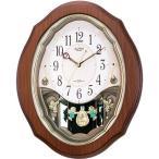RHYTHM リズム時計 クロック 電波掛け時計 メロディ付 スモールワールドアンジュ 4MN478RH06