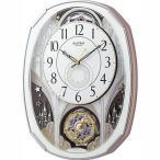 RHYTHM リズム時計 クロック 電波掛け時計 からくり時計 メロディ付 スモールワールドノエルM 4MN513RH03