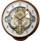 RHYTHM リズム時計 クロック 電波掛け時計 からくり時計 メロディ付 スモールワールドシーカー 4MN515RH23