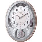 RHYTHM リズム時計 クロック 電波掛け時計 メロディ付 スモールワールドクオーレ 4MN516RH13 (4MN516-013の新モデル)