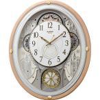RHYTHM リズム時計 クロック 電波掛け時計 からくり時計 メロディ付 スモールワールドエアル 4MN525RH13