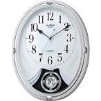 RHYTHM リズム時計 クロック 電波掛け時計 メロディ付 スモールワールドリリィ 4MN528RH03