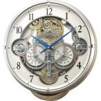 RHYTHM リズム時計 クロック 電波掛け時計 からくり時計 メロディ付 スモールワールドシーカーJ 4MN529RH13