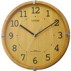 CITIZEN シチズン リズム時計 クロック 電波掛け時計 木目調 シンプルモードアークミニ 4MYA27-007