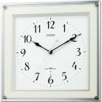 CITIZEN シチズン リズム時計 クロック 電波掛け時計 ミレディスクエア 8MY451-003