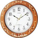 CITIZEN シチズン リズム時計 クロック 電波掛け時計 プリュマージュM458 8MY458-006