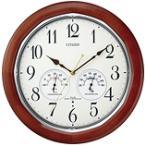 CITIZEN シチズン リズム時計 クロック 電波掛け時計 温湿度表示付 ネムリーナインフォートW 8MY464-006