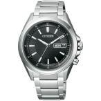 CITIZEN シチズン ATTESA アテッサ エコドライブ電波時計 メンズ腕時計 AT6040-58E