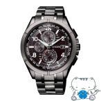 CITIZEN ATTESA シチズン アテッサ エコ・ドライブ電波時計 Black Titanium Series メンズ腕時計 AT8166-59E