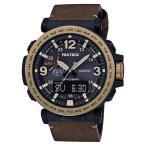 国内正規品 CASIO PRO TREK カシオ プロトレック アンティーク調皮バンド メンズ腕時計 PRG-600YL-5JF