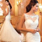 ウェディングドレス ロングドレス 二次会ドレス パーティードレス 演奏会 結婚式 大きいサイズ ワンピース  ホワイト 白色