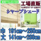 シャープシェード 手作りシェードカーテン 巾191〜240cm 丈141〜200cm 箱型ドラム式