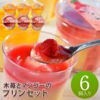 木苺とマンゴーのプリンセット 8247 (代引不可・送料無料)
