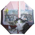 ショッピングマンハッタナーズ Manhattaner`s 中国製雨傘(長傘) ピンク色のパリの夕暮れ ピンク KM-94L