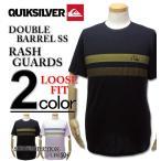 ショッピングラッシュ 大きいサイズ メンズ Quiksilver(クイックシルバー) ラッシュガード 半袖Tシャツ DOUBLE BARREL/XXL 3XL
