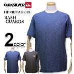 ショッピングラッシュ 大きいサイズ メンズ Quiksilver(クイックシルバー) ラッシュガード 半袖Tシャツ ルーズフィット HERRITAGE SS/XXL 3XL