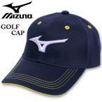 大きいサイズ メンズ MIZUNO ミズノ ゴルフ ロゴ刺繍 コットンツイルキャップ ディープネイビー 3L/62〜65cm