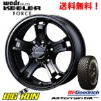 WEDS (ウェッズ) ADVENTURE KEELER FORCE [BLACK] &BFGoodrich All-Terrain T/A KO2 215/70R16