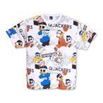 ショッピング大きいサイズ 大きいサイズ メンズ b-one-soul DUCK DUDE 総柄プリント半袖Tシャツ 3L 4L 5L 6L