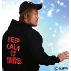 大きいサイズ メンズ 新日本プロレス 内藤哲也「KEEP CALM」パーカー 3L 4L 5L 6L