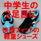 ソフトテニスシューズ オムニ クレーコート用 ミズノ WAVEインテンスクラブ2OC(ブラック×ホワイト×ライトブルー) 特別価格