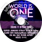 K-POP DVD/2020 World Is One/2020.07.09)★SUEPR JUNIOR MAMAMOO その他/コンサート LIVE KPOP DVD