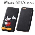 ☆ ディズニー iPhone6s iPhone6 (4.7インチ) 専用 ポップアップ・ブックレザーケース (合皮) ミッキー RT-DP9J/MK