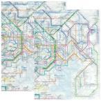 ☆ 鉄道路線図 クリアファイル 首都圏版 日本語&英語セット RFSJ/RFSE