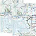 ☆ 鉄道路線図 クリアファイル 関西版 日本語&英語セット RFKJ/RFKE