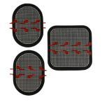 スレンダートーン パッド/交換パッド、3枚入り・スレンダートーン エボリューション 2/EMSパッド・3枚セット・腹筋用対応交換用パッド