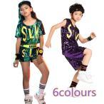 Yahoo!cute family子供演出服 ジャズ ダンス衣装 舞台服 練習着 上下セット hiphop チアガール 応援団 女の子 男の子ステージ着 JAZZ DANCE ws092h