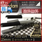 ワンダム ストレートアイロン  25mm AHI250 (カラー:ブラック/ホワイト) あすつく (送料無料) (Onedam PROFESSIONAL PRO IRON)(父の日)