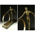 送料無料超人気ブロンズ像 輪を押す男子 ジャコメッティ 34cmインテリア 彫刻 銅像