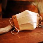 Yahoo!outdoor.web[即納 名入れ対応] 本革 携帯用 マスクホルダー 手作りマスクキット ヌメ革 ベージュ ナチュラル | 日本製 男性用 女性用 キッチンペーパー