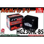AGMバッテリー HGZ30HL-BS FLHRC FLHTCU FLTR  エレクトラグライド ロードグライド YTX30L-BS 互換 66010-97A 97B/97C YTX30L-BS バイクパーツセンター
