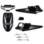 スズキ アドレスV100 CE11A 外装セット 5点 黒 ブラック エンブレムセット バイクパーツセンター
