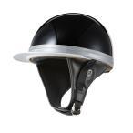 ヘルメット コルク半キャップ 三つボタン ソリッドブラック 新品 半ヘル 57cm〜60cm未満 半帽 バイクパーツセンター