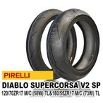 ピレリ ディアブロ スーパーコルサ V2 SP 120/70ZR17 M/C (58W) TL& 180/55ZR17 M/C (73W) TL SUPERCORSA SUPER CORSA V2 SP 前後セット