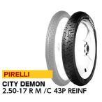 PIRELLI CITY DEMON 2.50-17 R F T/T ピレリ シティデーモン ホンダ スーパーカブ50 メイト バイクパーツセンター