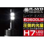 オールインワン LEDヘッドライトキット H7 【RAYD OMEGA】 ファンレスアルミボディ 1年保証 3600LM バイクパーツセンター