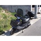 アドレスv125 アドレス110 原付用 汎用ウインドスクリーン 風防 バイク用 クリア スモーク アダプター付 ws-04