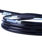 GSX400E ザリ ゴキ (CH有り) ワイヤーセット 30cmロング ブラック アップハンドル バーテックス