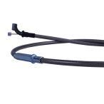 SRX400 90- アクセルワイヤー スロットルワイヤー 10cmロング ブラック メッシュ ダークメッシュ