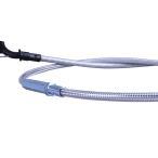 GSX250E/400E ザリ ゴキ クラッチワイヤー 20cmロング メッシュ アップハンドル バーテックス