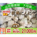 (訳あり)優品乾燥にんにく大玉 約10kg 香川県産