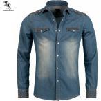 ダンガリーシャツ デニムシャツ ウェスタンシャツ メンズ XXL 大きいサイズも入荷