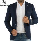 テーラードジャケット ブルー 一つボタン メンズ ブレザー XXL/3L 大きいサイズも入荷 青黒