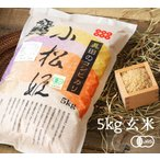 有機JAS認証 コシヒカリ小松姫 玄米(金井農園の有機米 無農薬・無化学肥料)[5kg] 群馬産《常温・産地直送便》