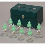 無料健康相談対象製品 IKO(医工) G8セット(ガラスカップのセット) 吸い玉/カッピング 鍼灸