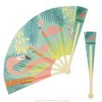 女性和服, Kimono - 力匠 / トロピカルバード 防滴 扇子 / フラミンゴ  / 9996401